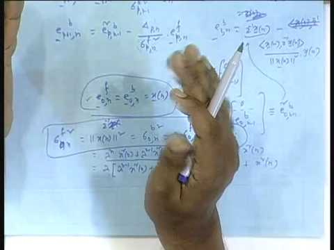 Lecture - 32 RLS Lattice Recursions