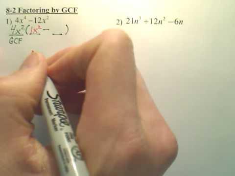 8.2 Factoring by GCF - Algebra 1