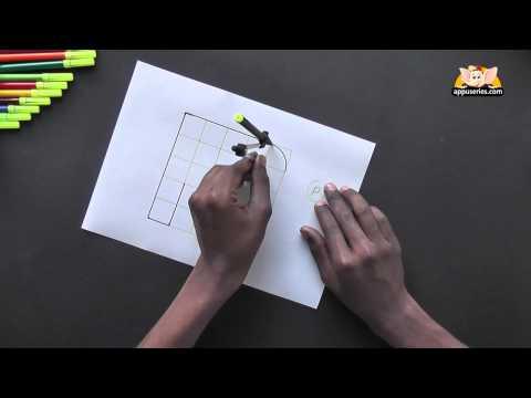 Write Block Style Alphabet 'P'  - Arts & Crafts