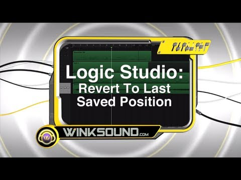 Logic Studio: Revert To Last Saved Position | WinkSound