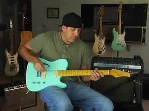 Demo Xaviere budget Guitar through Gibson tube amp Boss Ds1