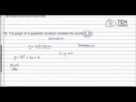 Quadratic Functions Characteristics