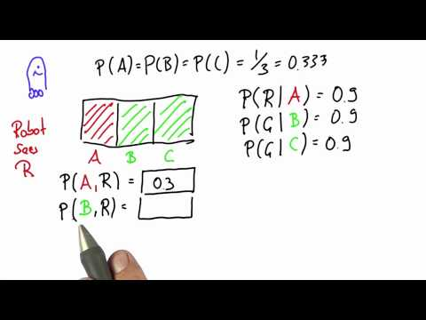 Robot Sensing 5 Solution - Intro to Statistics - Bayes Rule - Udacity