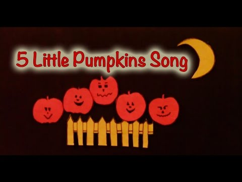 Halloween songs for children - 5 Little Pumpkins - Littlestorybug