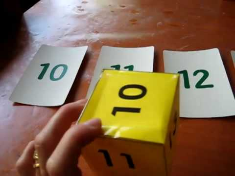 Toddler-Math. Number die