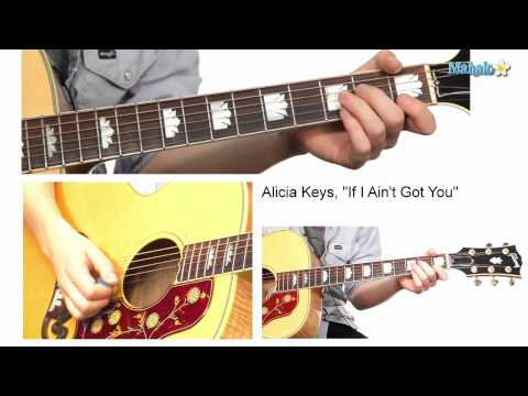 "How to Play ""If I Ain't Got You"" Verse by Alicia Keys on Guitar"