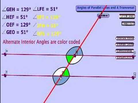 Angles of parallel lines