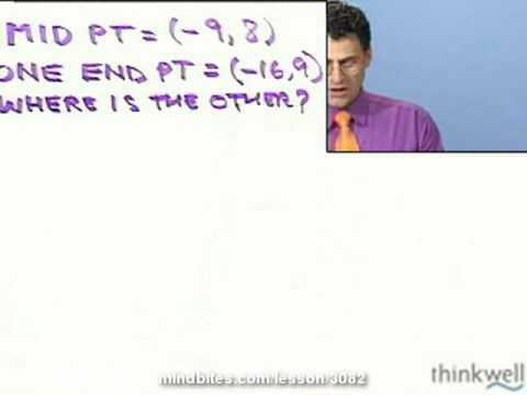 College Algebra: Finding 2nd Endpoint of a Segment