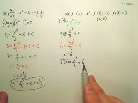 4.1b2 Antiderivatives and Indefinite Integration - Calculus