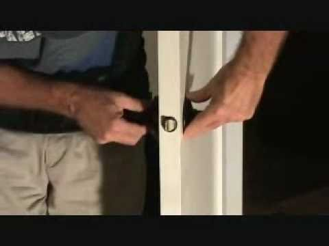 How to install a privacy lever locking door handle
