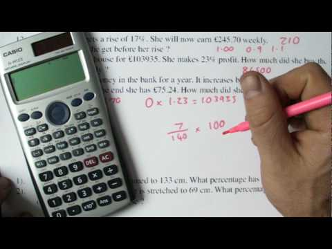 GCSE percentage, reverse, difference, increase and decrease tutorial.MP4