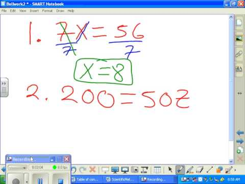 Solve one step equation mult and divide