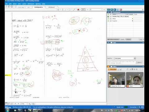 Algebra Quick Fixes Part 1