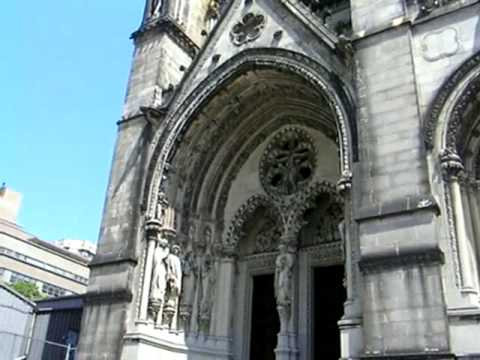 Outside St John The Divine Cathedral, New York City