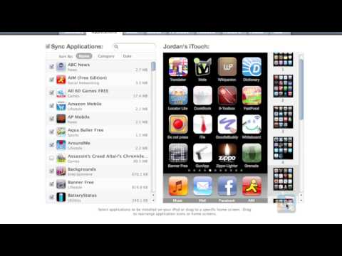 How to Organize iPhone Apps in iTunes 9 Part 1