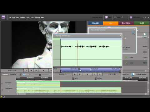 Adobe Premiere Elements 7 ch6: Recording a Narration