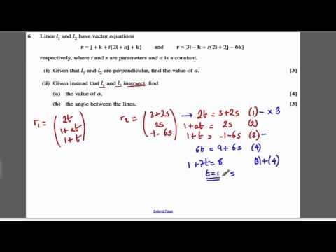 Core 4 OCR June 2012 Q6 - Vectors (12)
