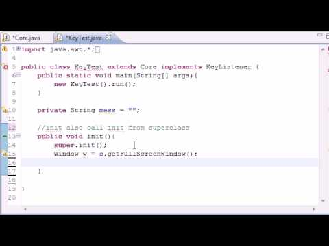 Java Game Development - 28 -  Intro to Keyboard Input