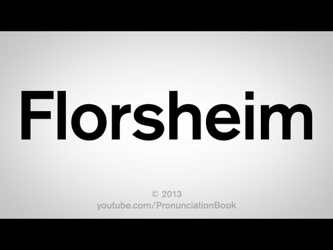 How to Pronounce Florsheim