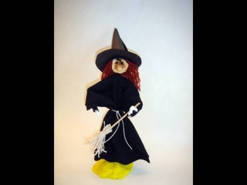 Witch Apple Carving