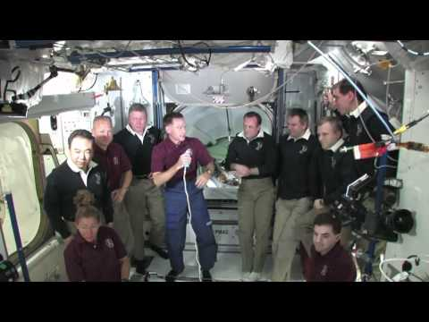 Farewell for Shuttle Crew