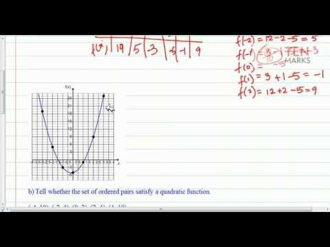Graph and Identify Quadratic Functions