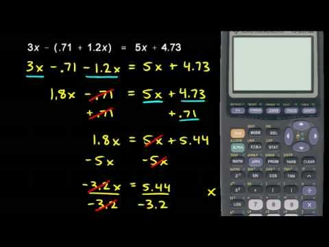 Prealgebra 5.6c - Decimal Equation Example (2)