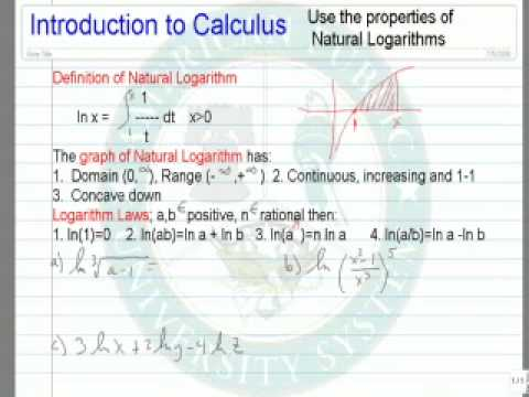 Use the Properties of Natural Logarithms