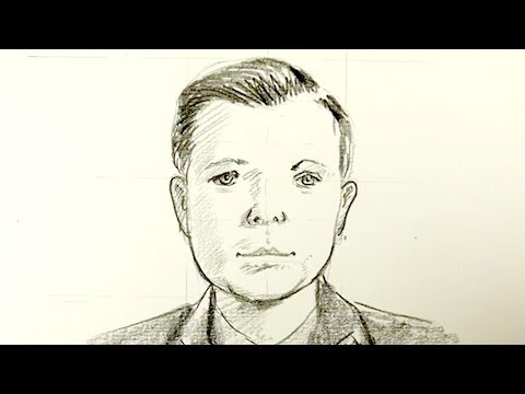 How to draw Yuri Gagarin - First Man in Space