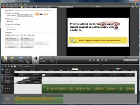 Camtasia Workshop Part 5: Optimizing Audio & Producing