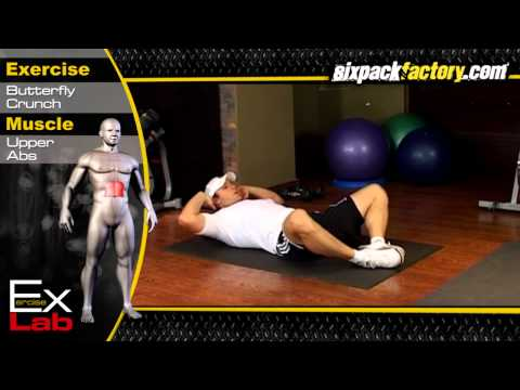 Butterfly Crunch : Best Ab Exercises
