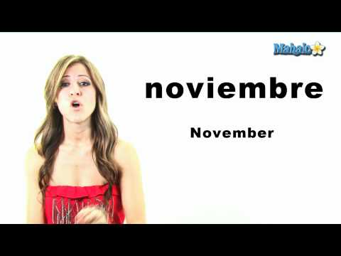 "How to Say ""November"" in Spanish"