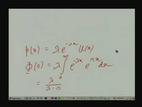 Lecture - 11 Characteristic Function