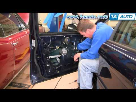 How To Install Replace Power Window Regulator and Motor Ford Taurus Mercury Sable 96-07 1AAuto.com