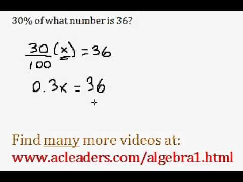 Basic Percent Word Problem - easy explanation!!! (pt. 3)
