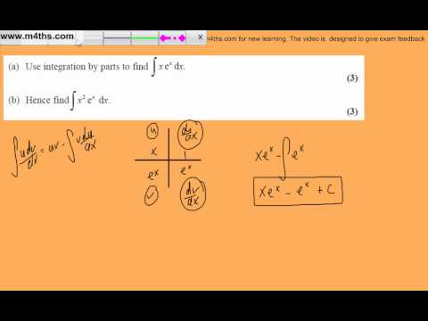 (q2) Core 4 June 2008 Edexcel Past Paper - Integration by parts