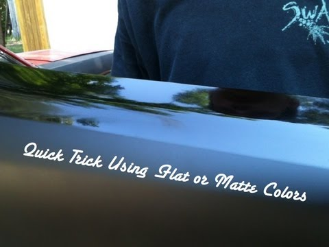 Matte Black Trick - Custom Paint Tip When Spraying Matte or Flat Colors