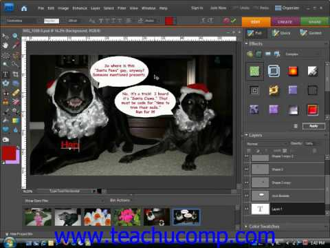 Photoshop Elements Tutorial Entering Text Adobe Training Lesson 11.2
