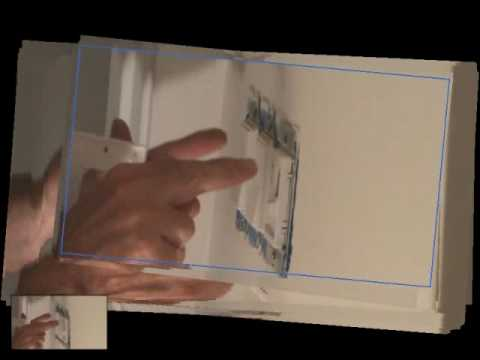 Installing a 3 gang electrical light switch cover plate