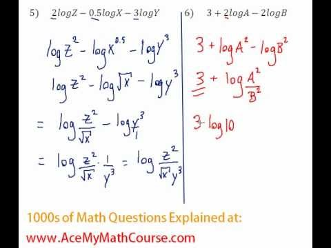 Logarithms - Compressing Log Expressions Question #6
