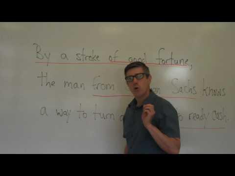 25.  Parsing a Sentence.  English Grammar Lesson