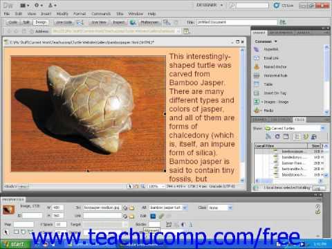 Dreamweaver CS5 Tutorial The Properties Inspector Adobe Training Lesson 1.7