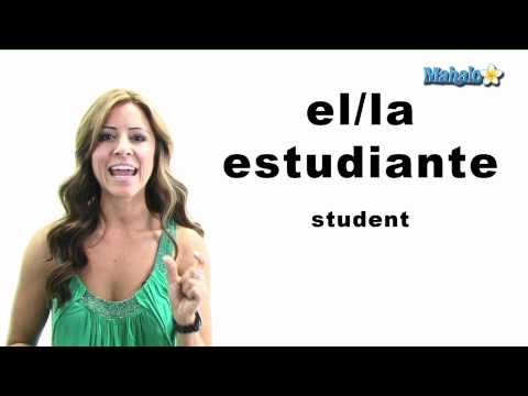 "How to Say ""Student"" in Spanish"