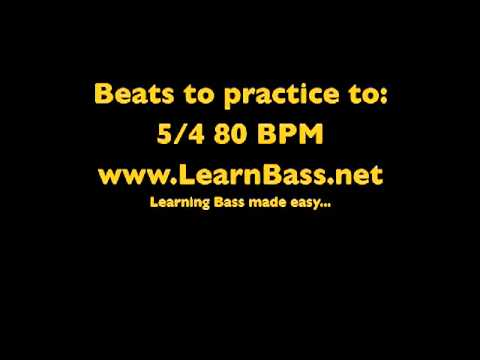 Beats to practice to:  5/4 80 BPM -LearnBass.net-