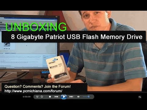 Unboxing 8 GB Patriot XPorter USB Flash Memory Drive