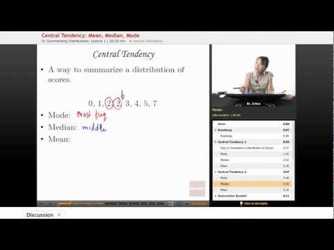 Statistics: Central Tendency