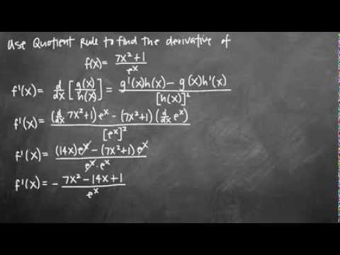 Quotient Rule - Rapid Calculus