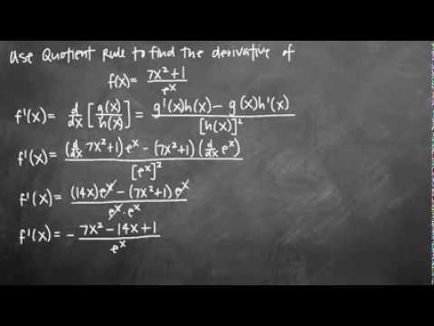 Quotient Rule - Rapid Calculus
