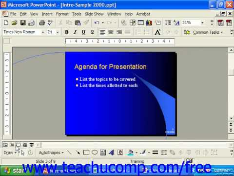 PowerPoint 2003 Tutorial Slide View 2000 & 97 Microsoft Training Lesson 4.3