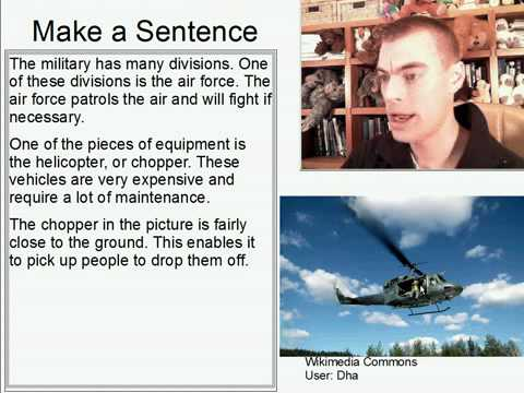 Learn English Make a Sentence and Pronunciation Lesson 135: Air Force Helicopter